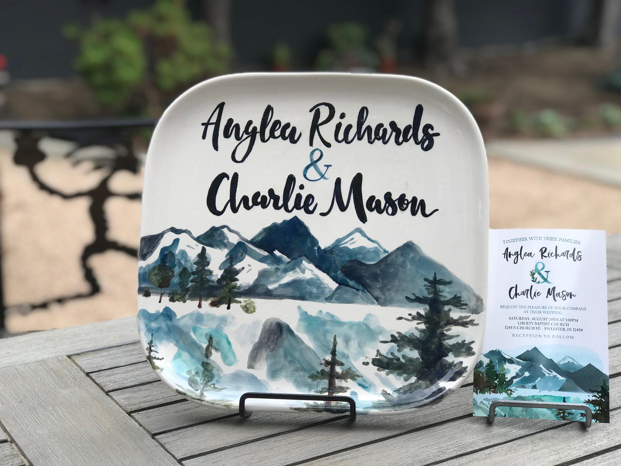custom wedding plate