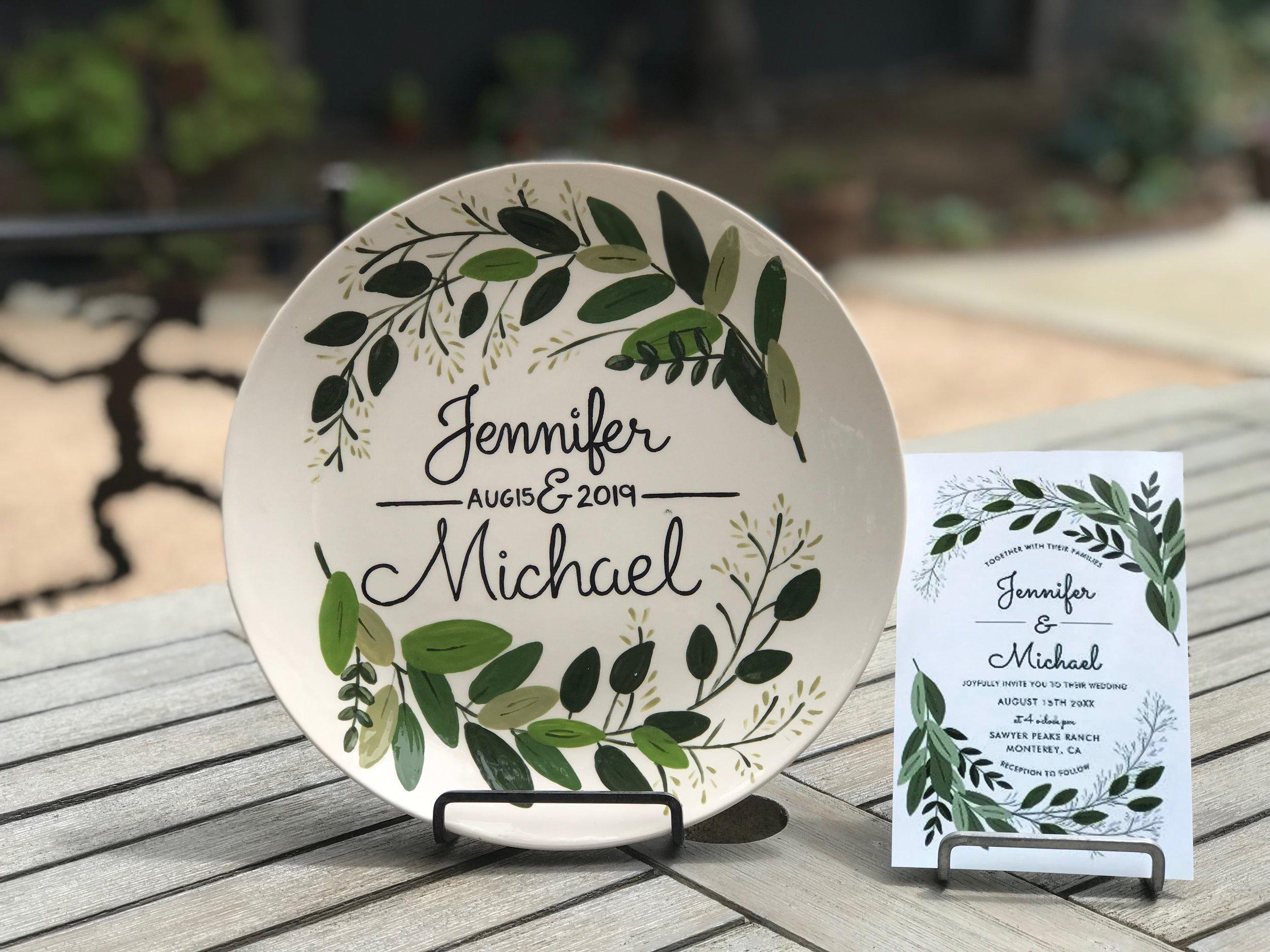 custom wedding plate 2