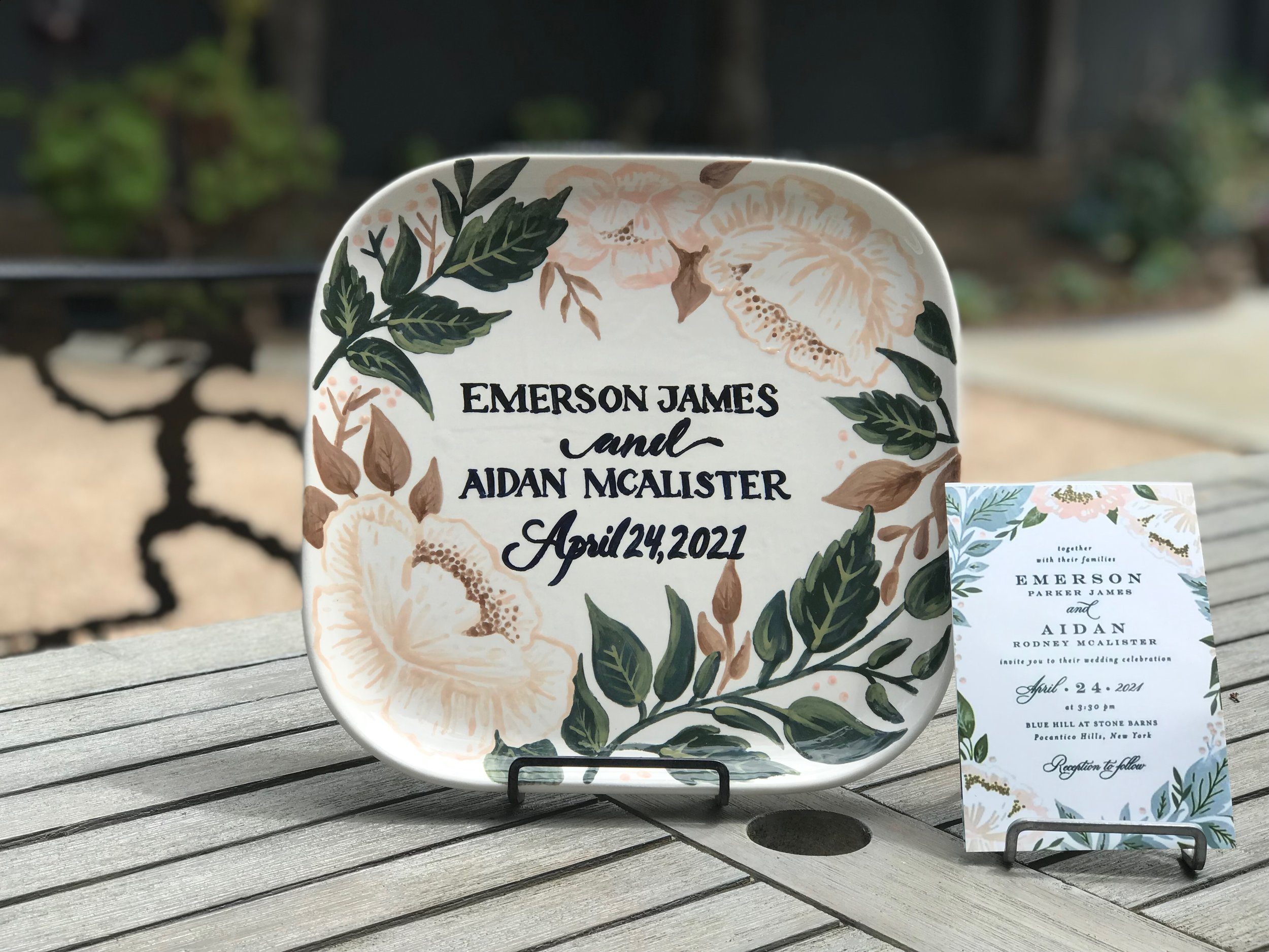 custom wedding plate 3