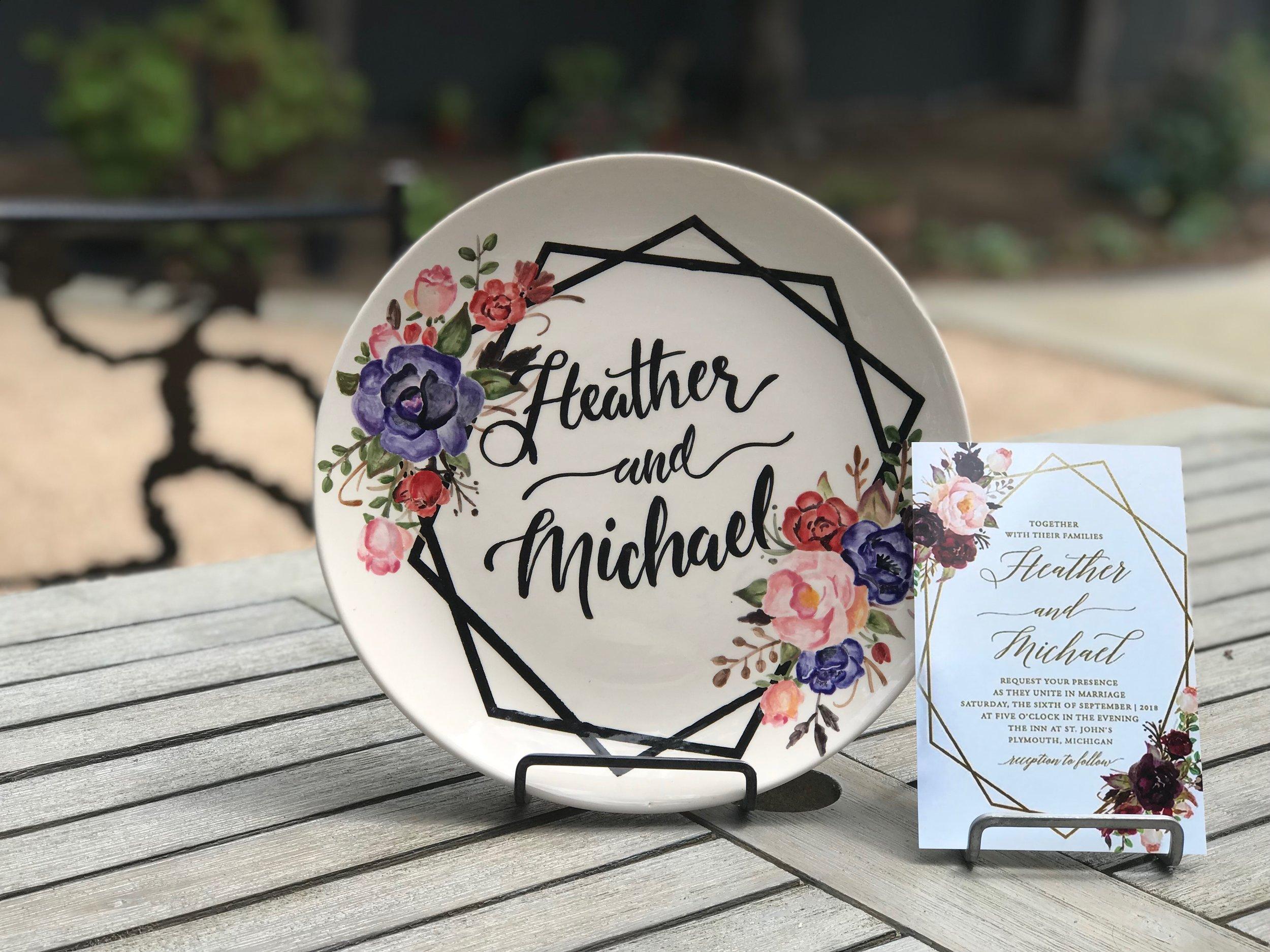custom wedding plate 4
