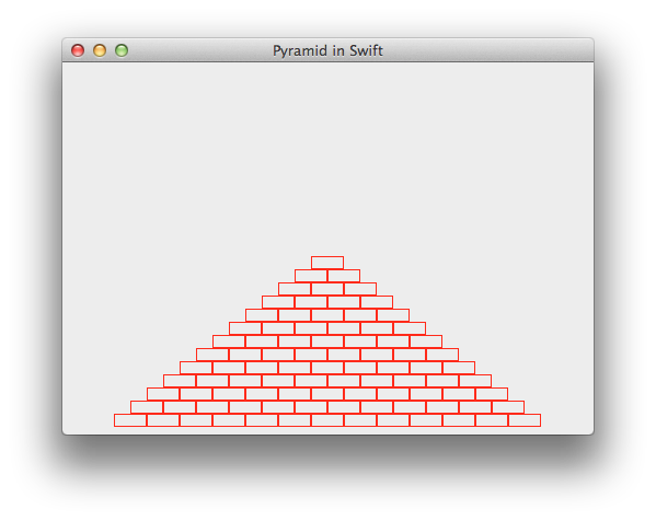This exercise has you make a pyramid based on some given constants and make it centered on the window and stay centered as the window is resized. There's a big gap from this to Flappy Birds let alone something as simple as Drag and Drop...Swift will help but it won't get you all the way there.