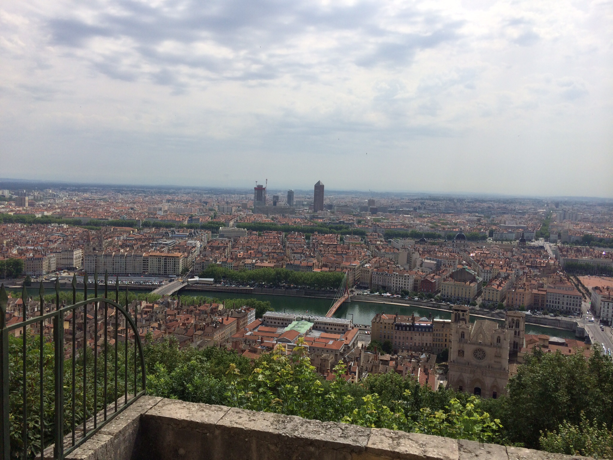 This was taken from the back of the Notre Dame Cathedral that overlooks this city of 1.6 million inhabitants.