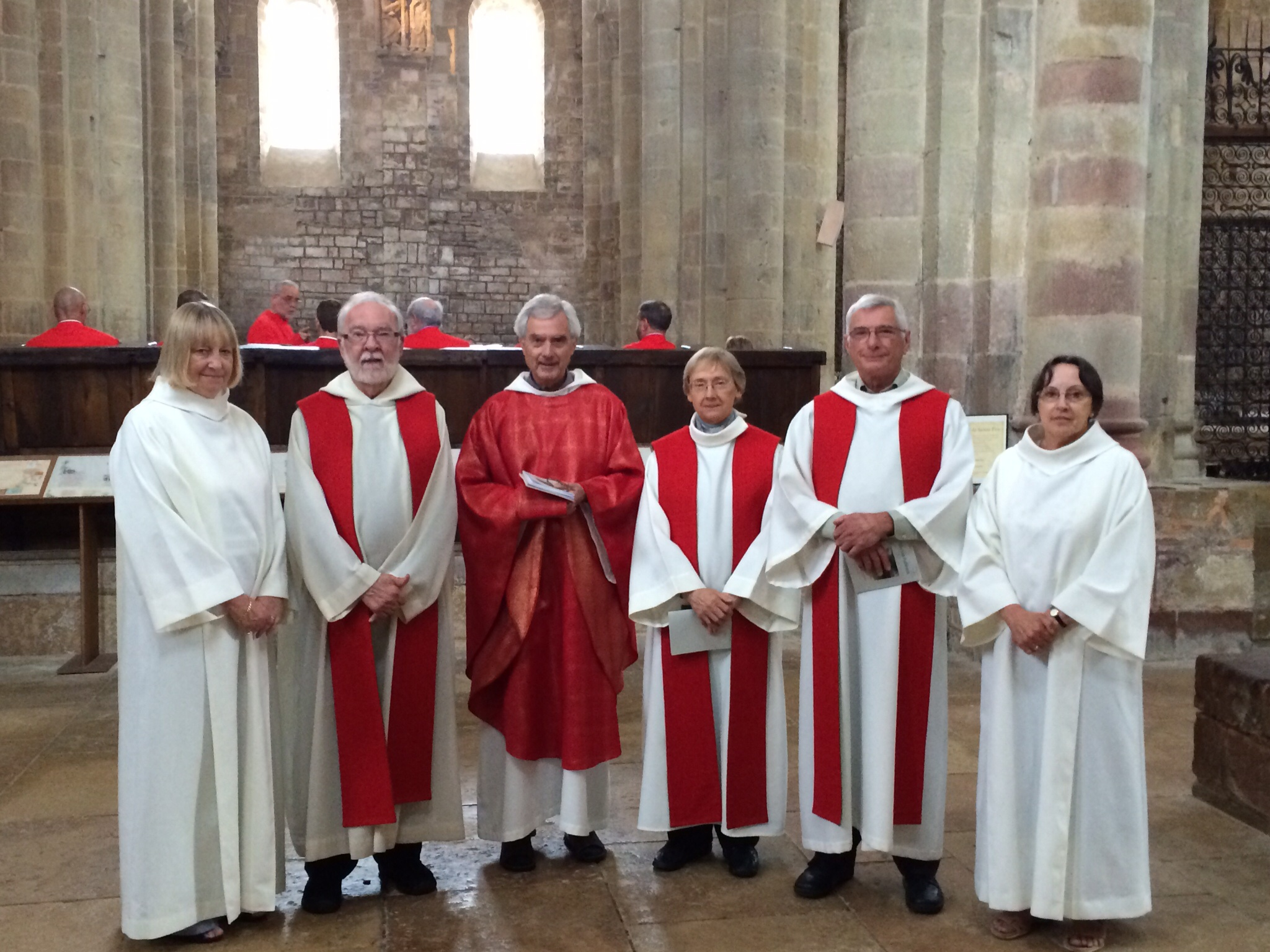 This is a photo of those of us who celebrated the service.