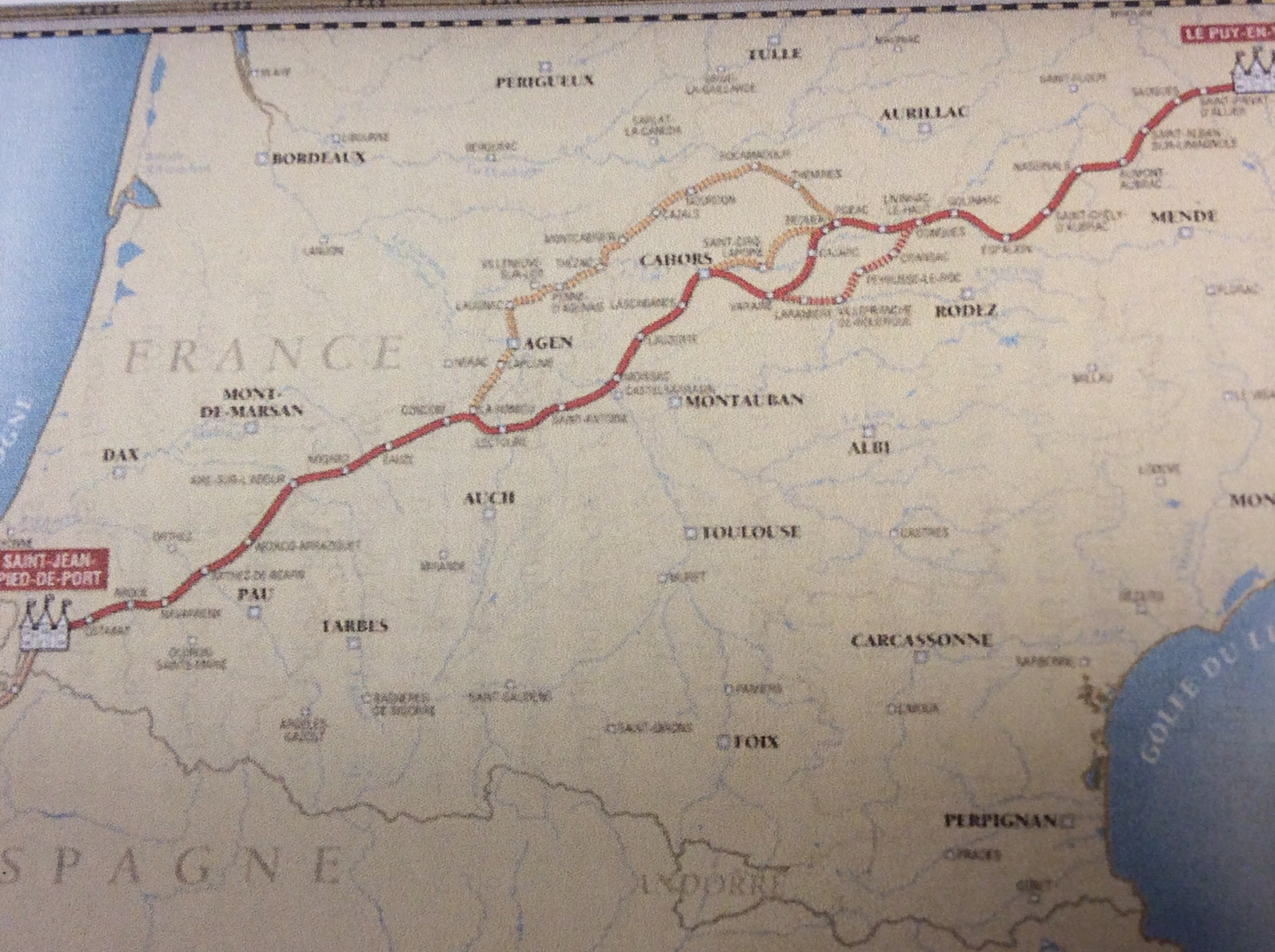 This is a map of the route we are taking.