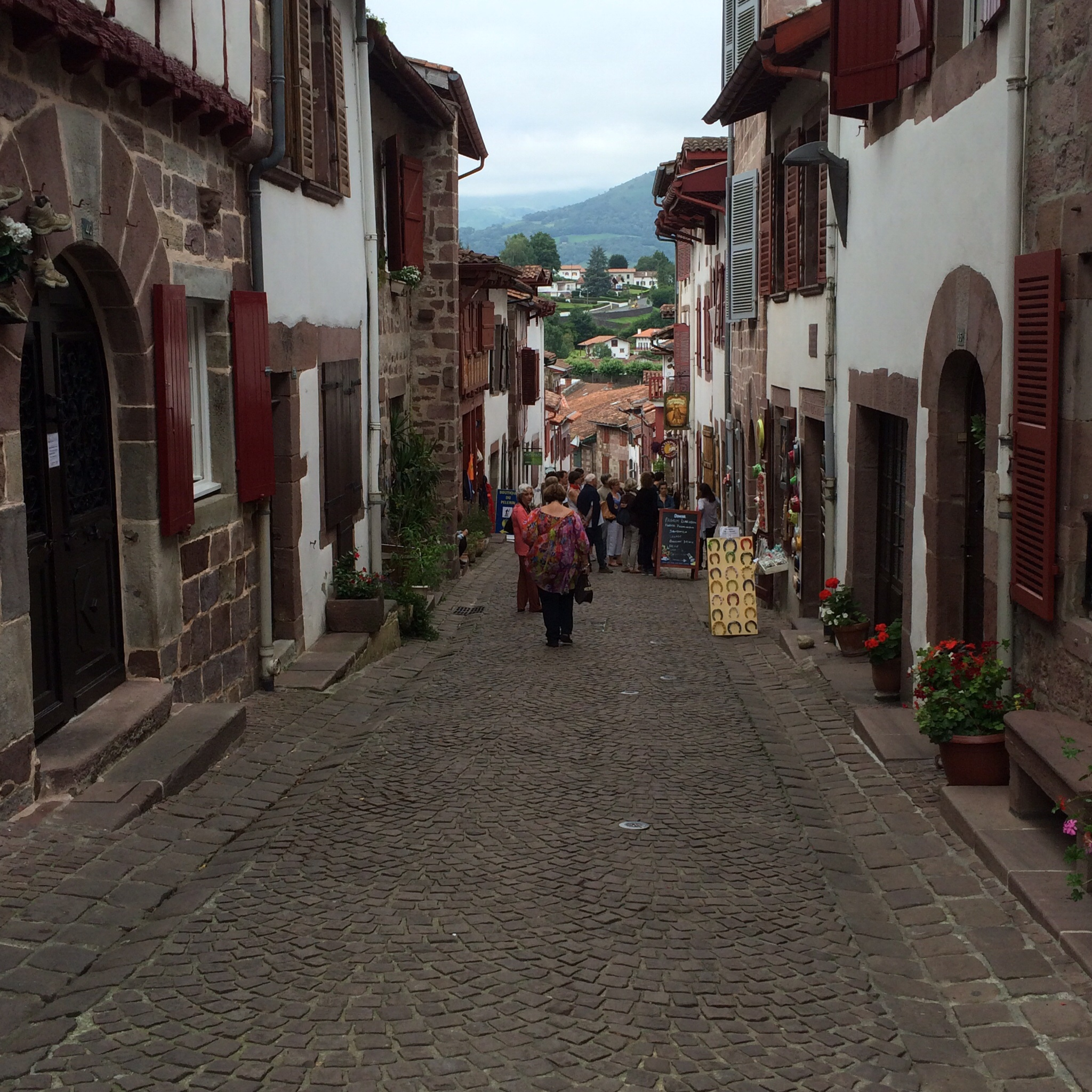 We saw literally hundreds of pilgrims walking this street. If you look closely, you might see one you recognize.