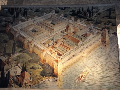 Artist's rendering of Diocletian's Palace
