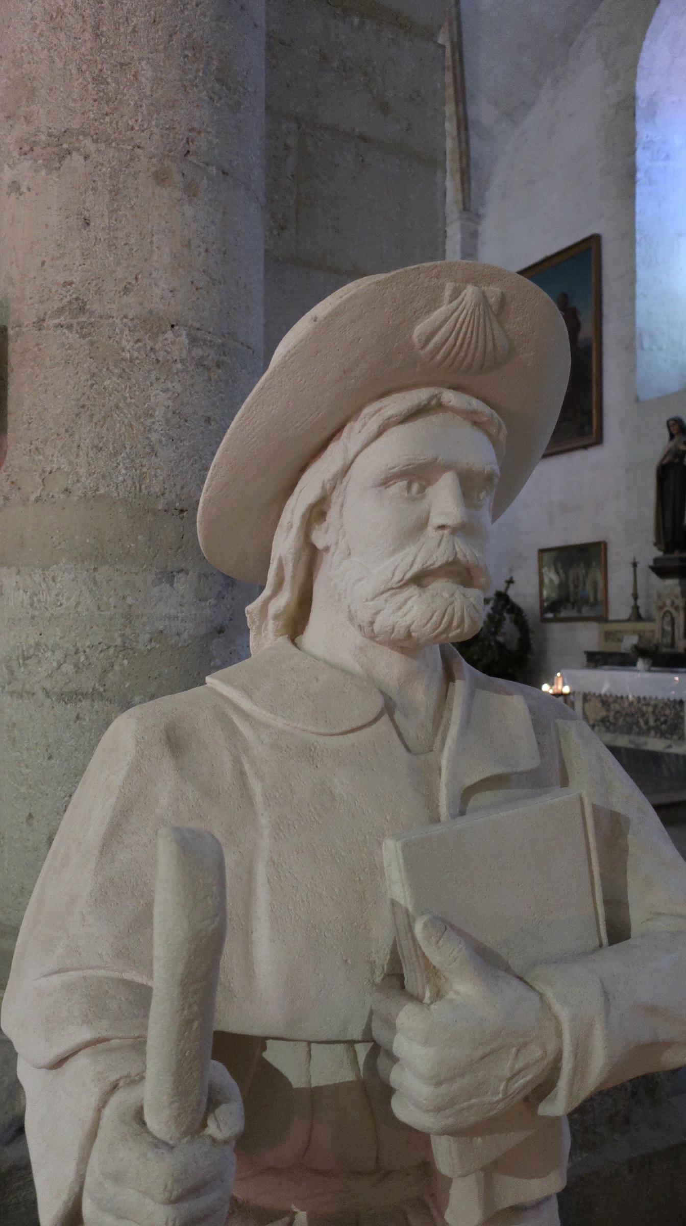 Pilgrim Statue in Church of St. Giles