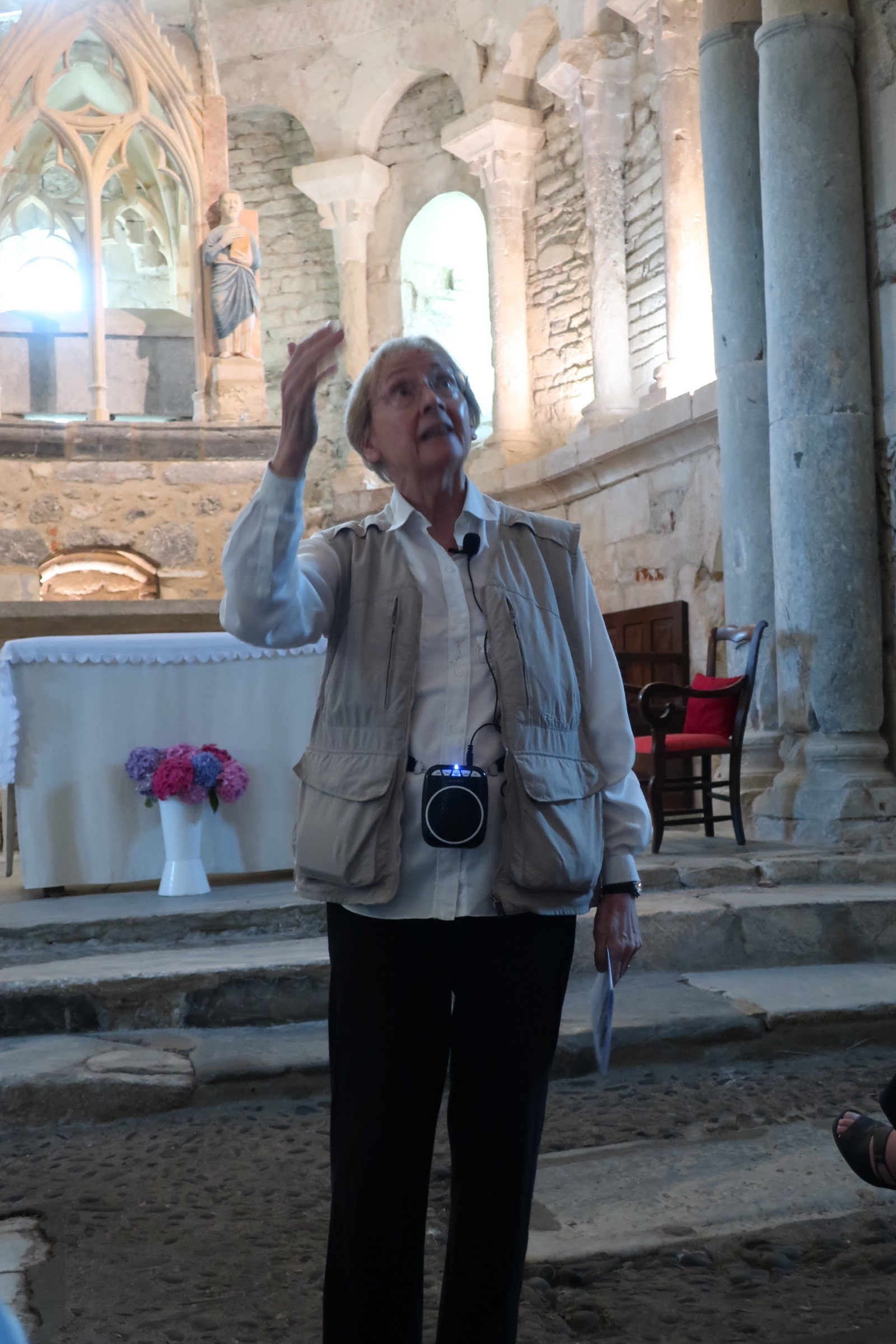 Lynn Boughton Pointing out Symbols in the Church