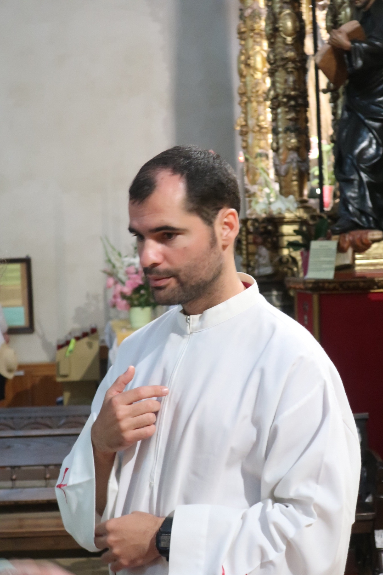 The recently ordained Jesuit priest