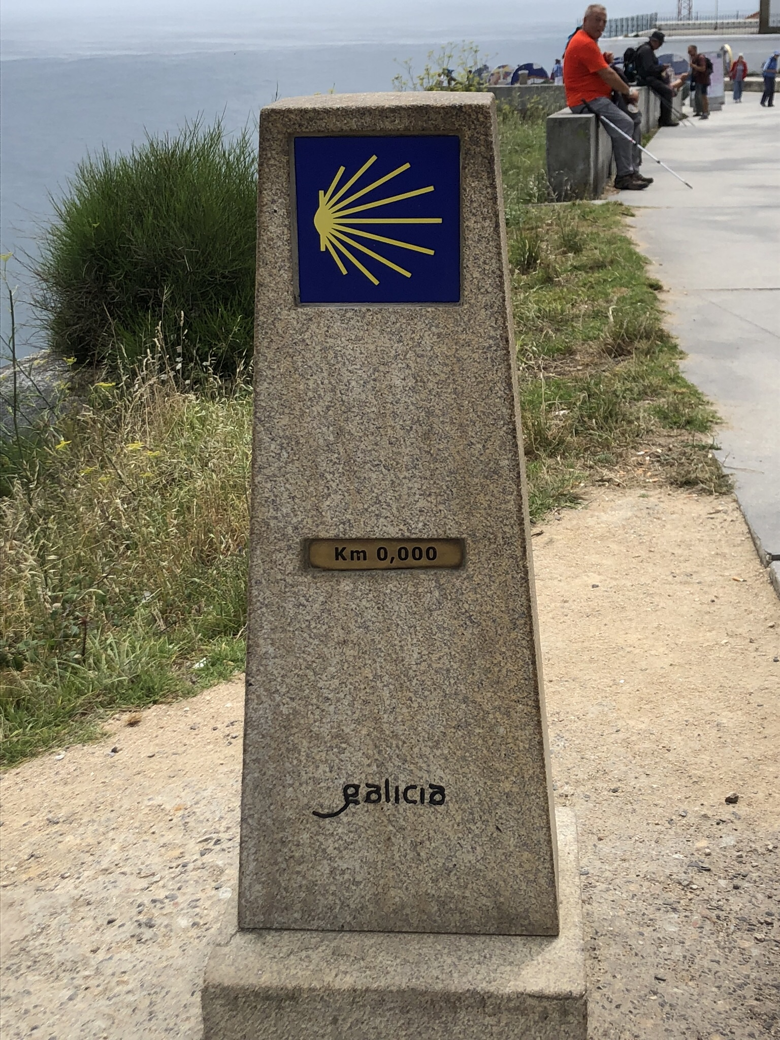 This sign post marks the end of the Pilgrimage