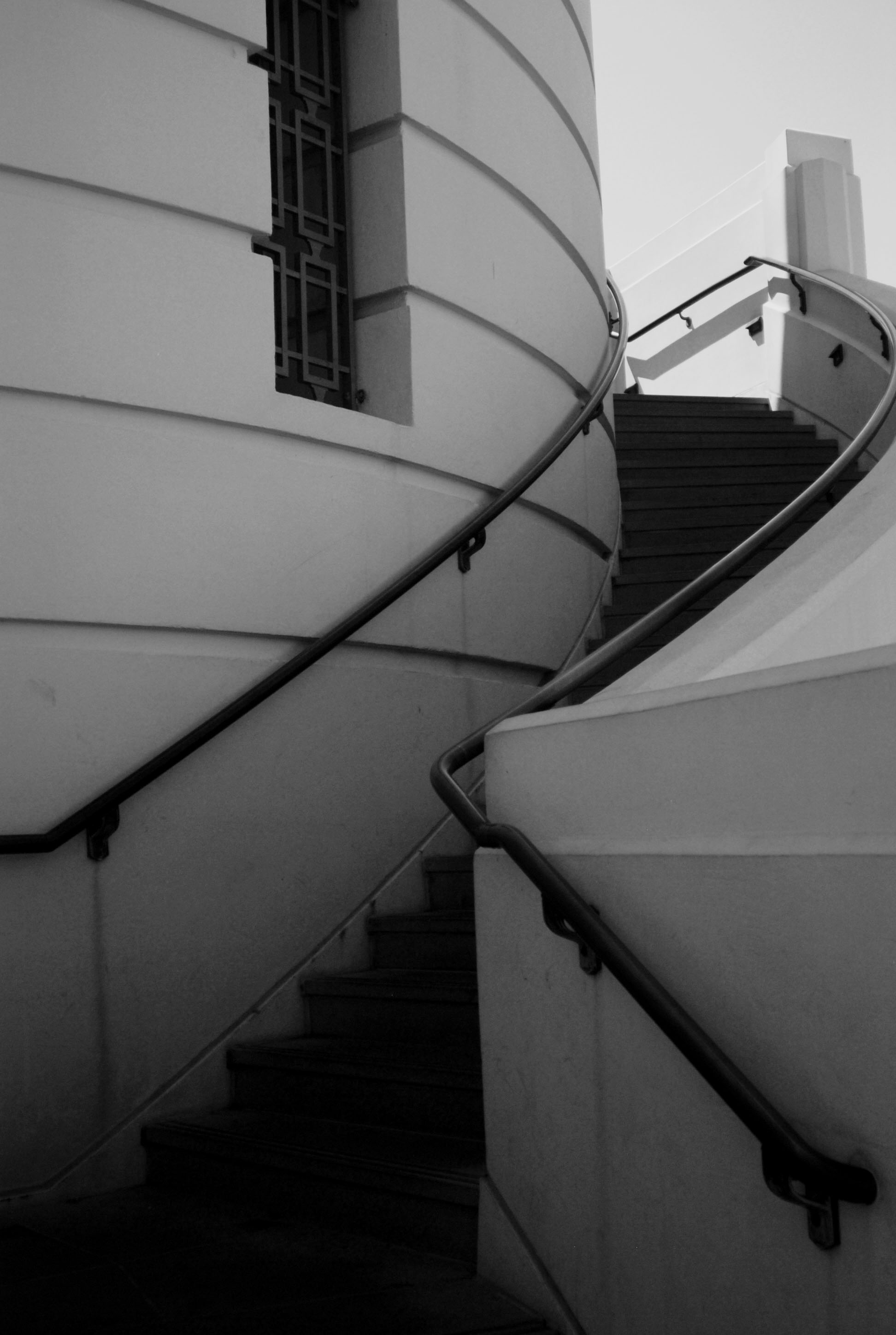 GriffithObservatory_BW Stairwell1.jpg