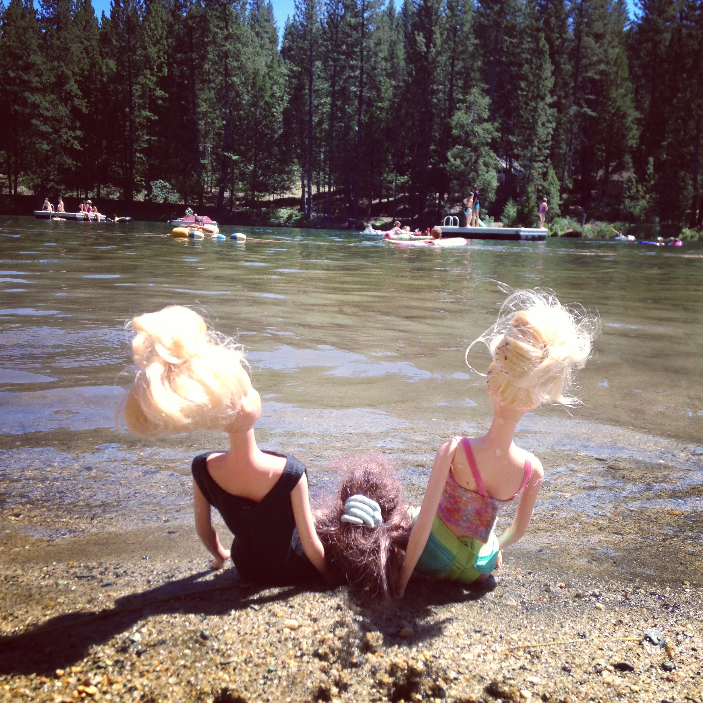 Barbies at the Lake.JPG