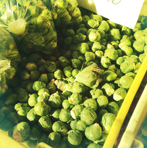 Brussel Sprouts, which we ate tonight.