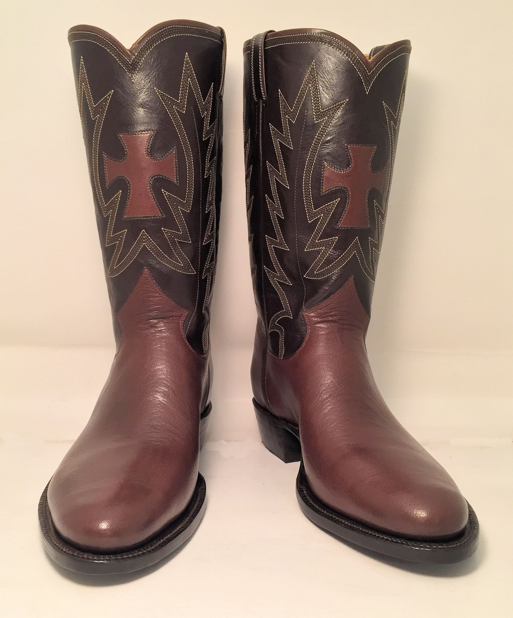 Cross Inlay Boots Top