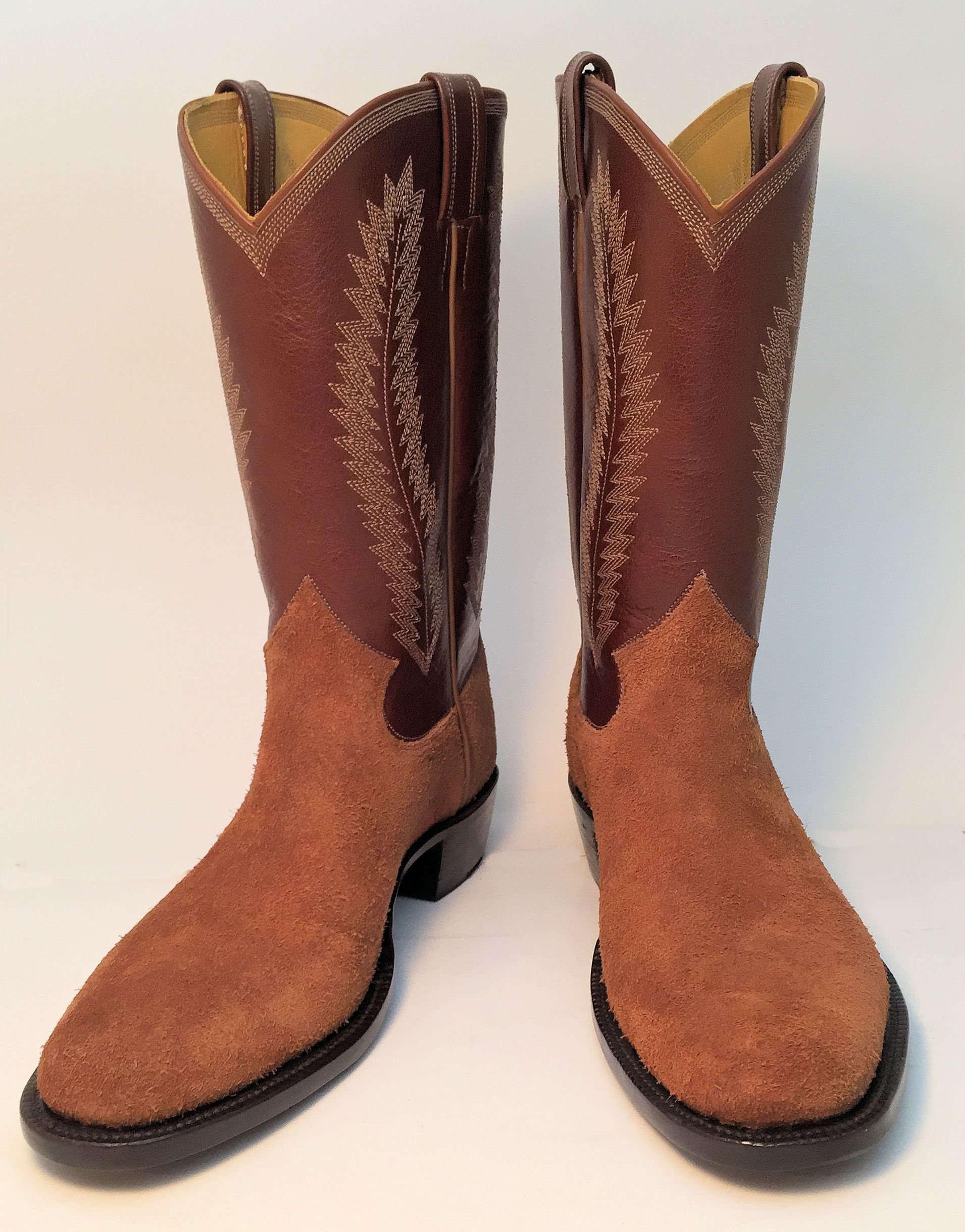 Hand Made Rough Out Cowboy Boot