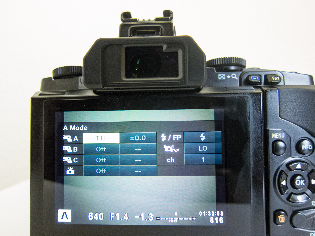 RC Flash Shooting Menu