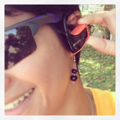 Front view: I can wear earrings!