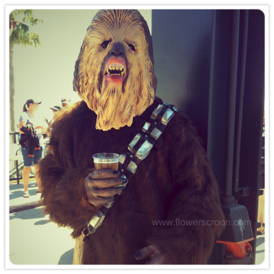 A Wookiee and his beer.