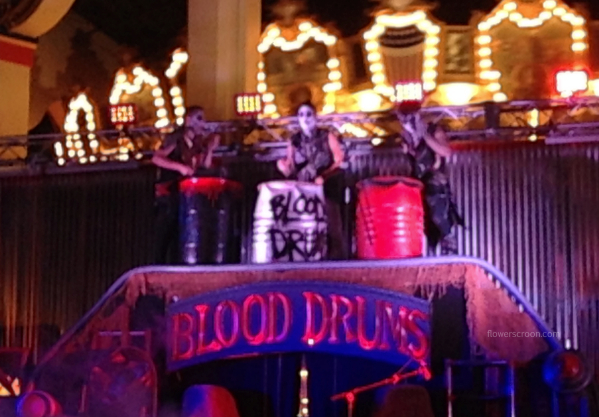 Blood Drums as part of the entertainment