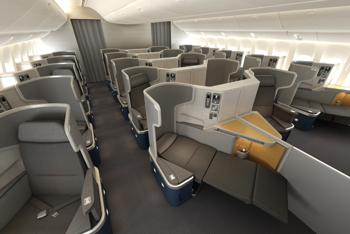 Boeing 777-300ER Business Class. Image: American Airlines