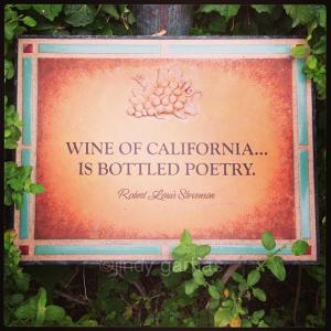 Mendocino Wine Terrace Sign. So true!