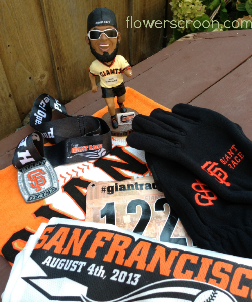Medal, bobble head, bib, rally rag, shirt, gloves