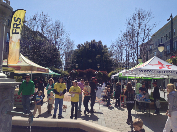 Some of the Expo vendors in the courtyard area