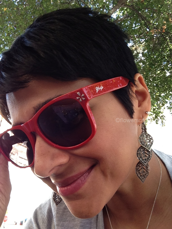 Sweet (free!) sunglasses at the Yelp booth