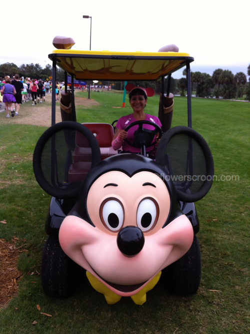 Mickey golf cart at the golf course