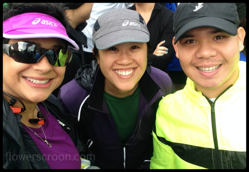 Me, Christine, Francis at the starting line