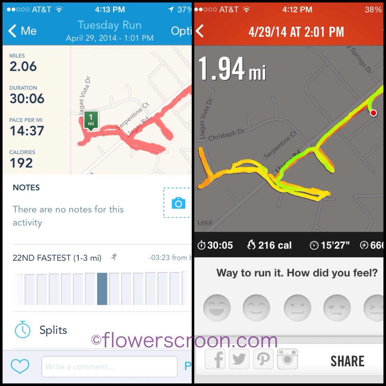 So which is my pace: 14:37 or 15:27?