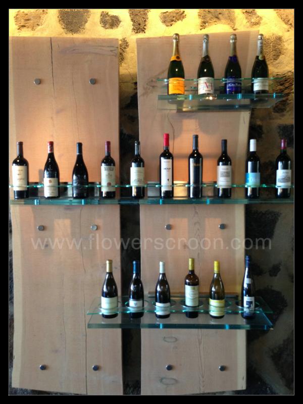 I love this wine bottle display