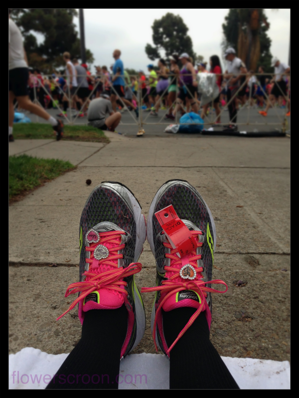 Love my Saucony Triumph running shoes and my shoe bling.