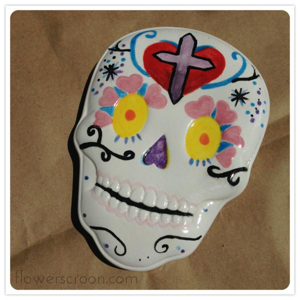 Sugar skull box lid