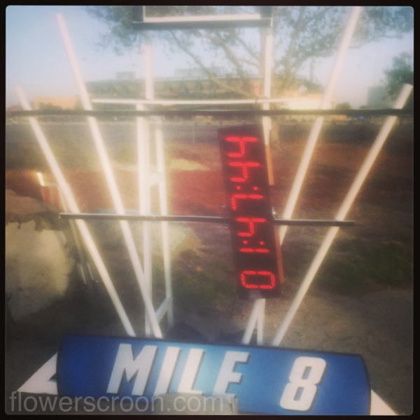 Mile marker 8 - knocked hard by the winds