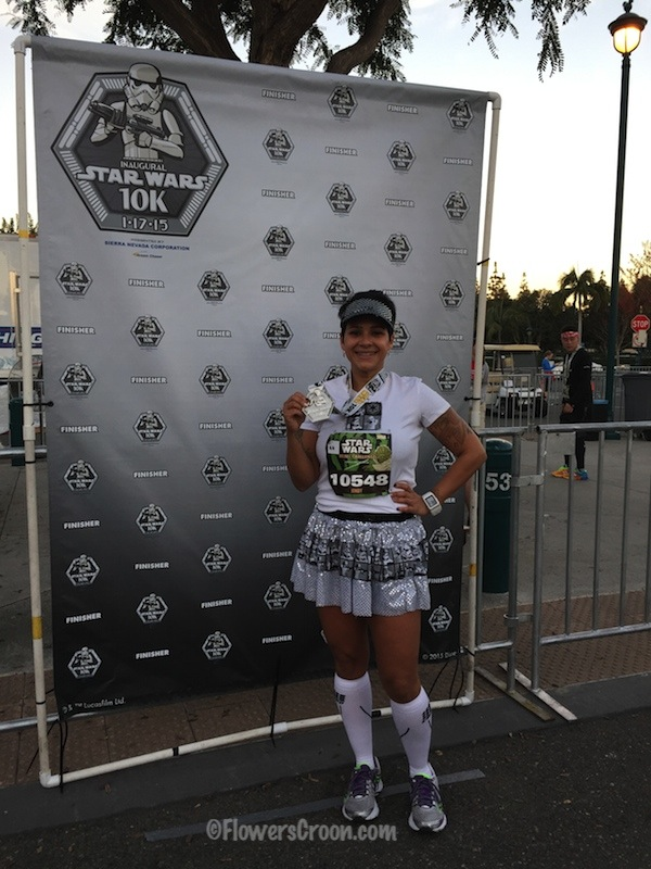 rundisney star wars 10k finisher photo