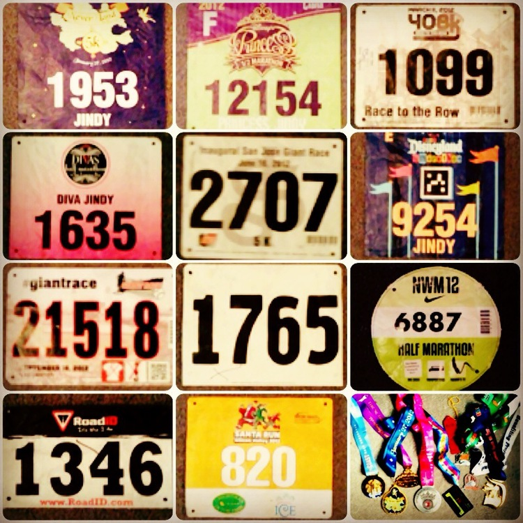 2012 Race Bibs and Medals