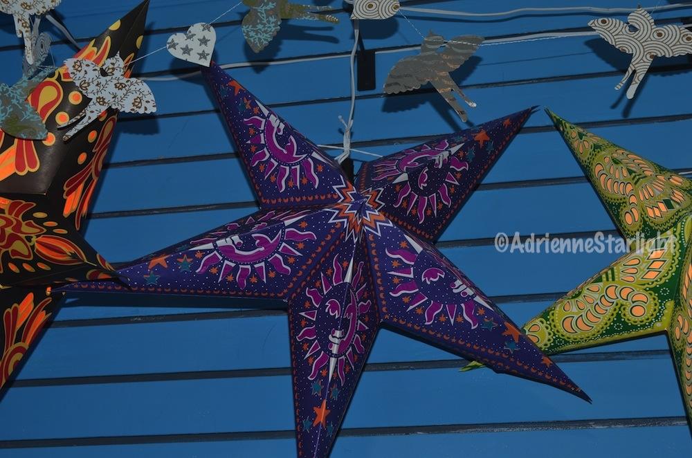 star lanterns and paper garland