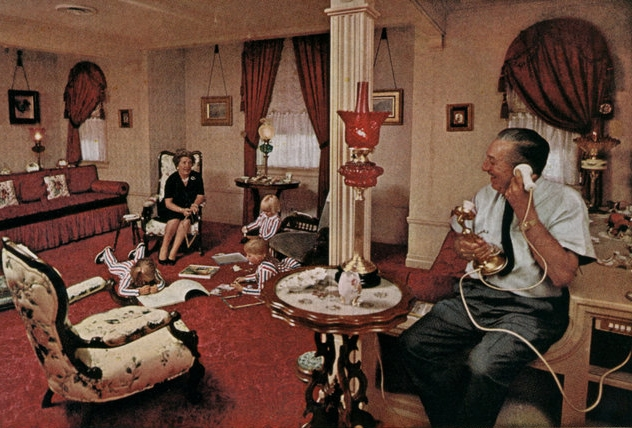 First ever photo of Walt's Disneyland firehouse apartment appears in National Geographic 1963