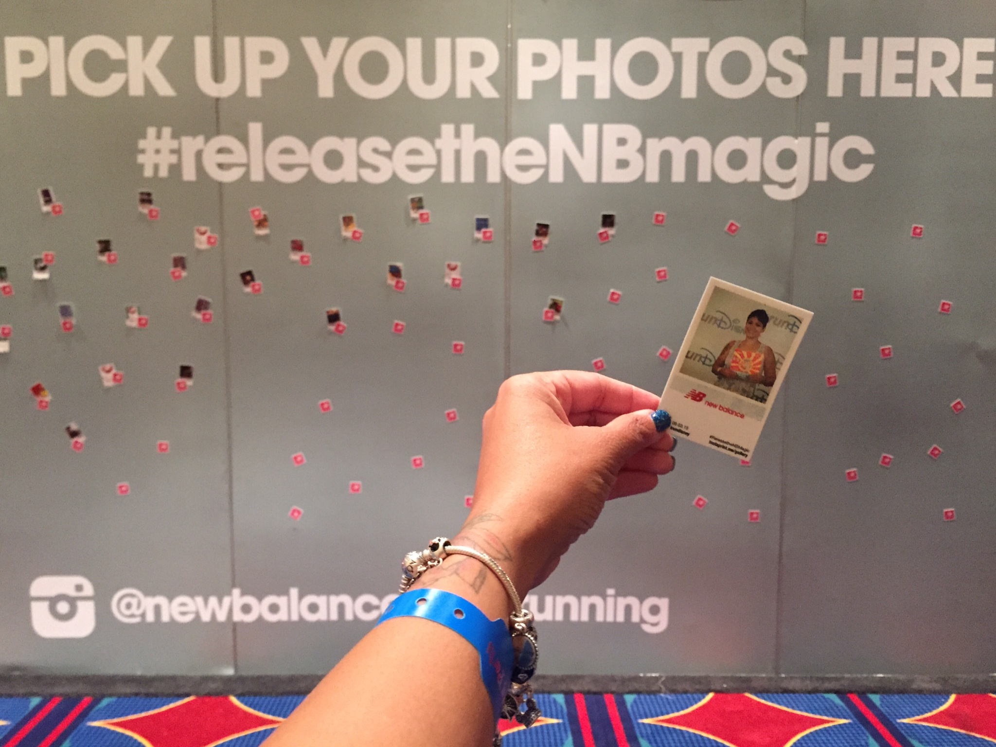 Great marketing. Really loved this Polaroid wall.