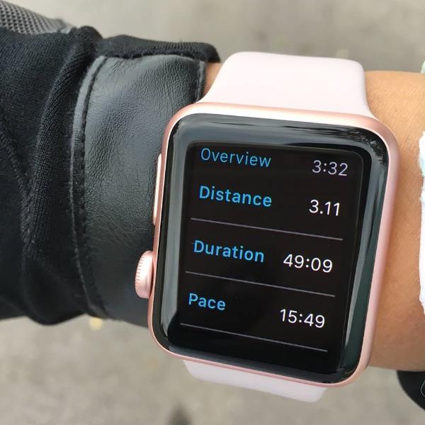 Runkeeper tracking on my Apple Watch.