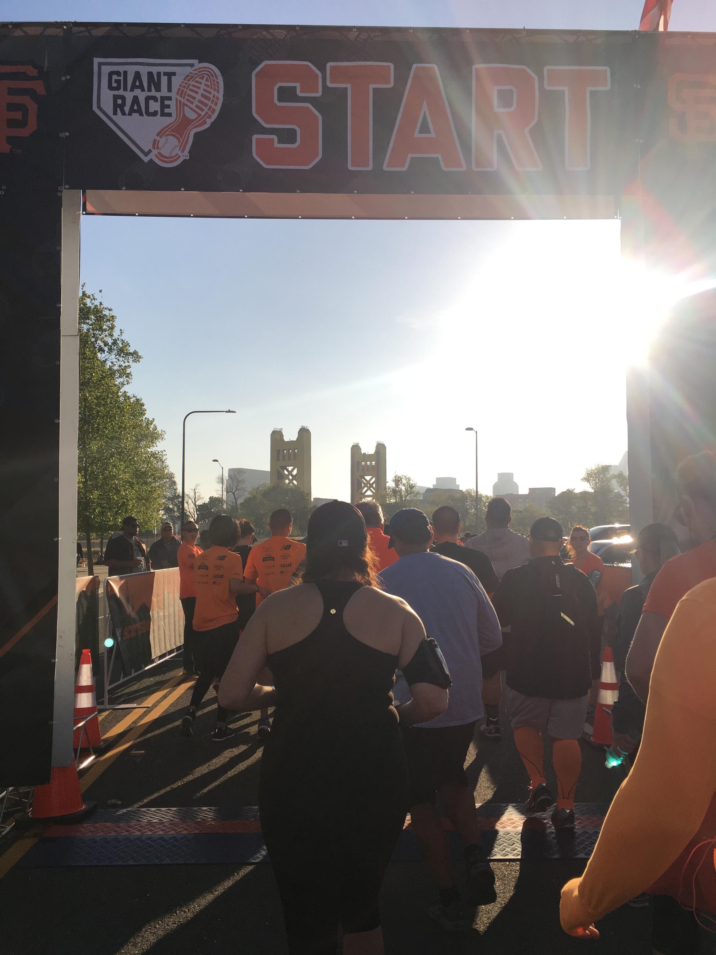 Sacramento Giant Race Start Chute