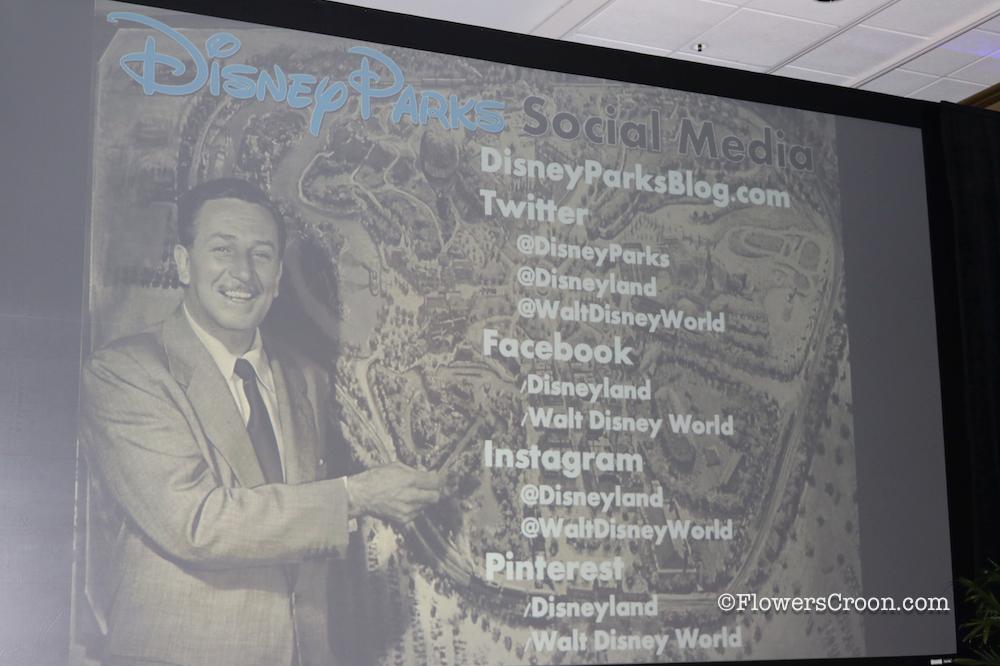 Disney parks on social media