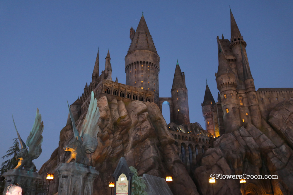 The castle is even more beautiful at night