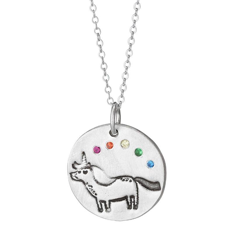 Unicorn and Rainbow Necklace