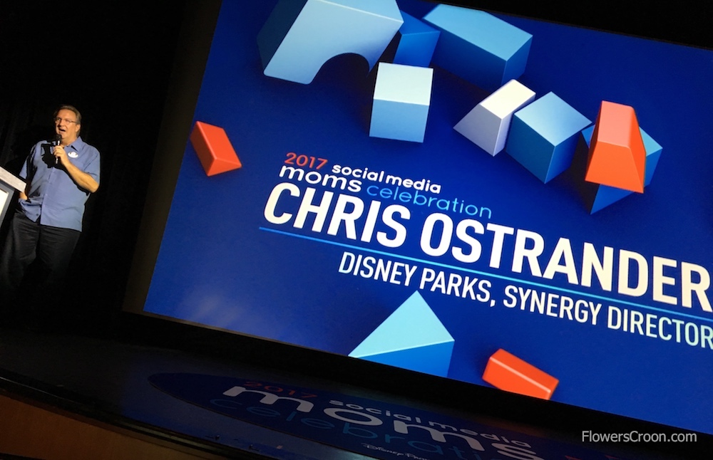 Chris Ostrander, Disney Parks Synergy Director, shared exciting Disney Parks and Disney entertainment sneak peaks and news.
