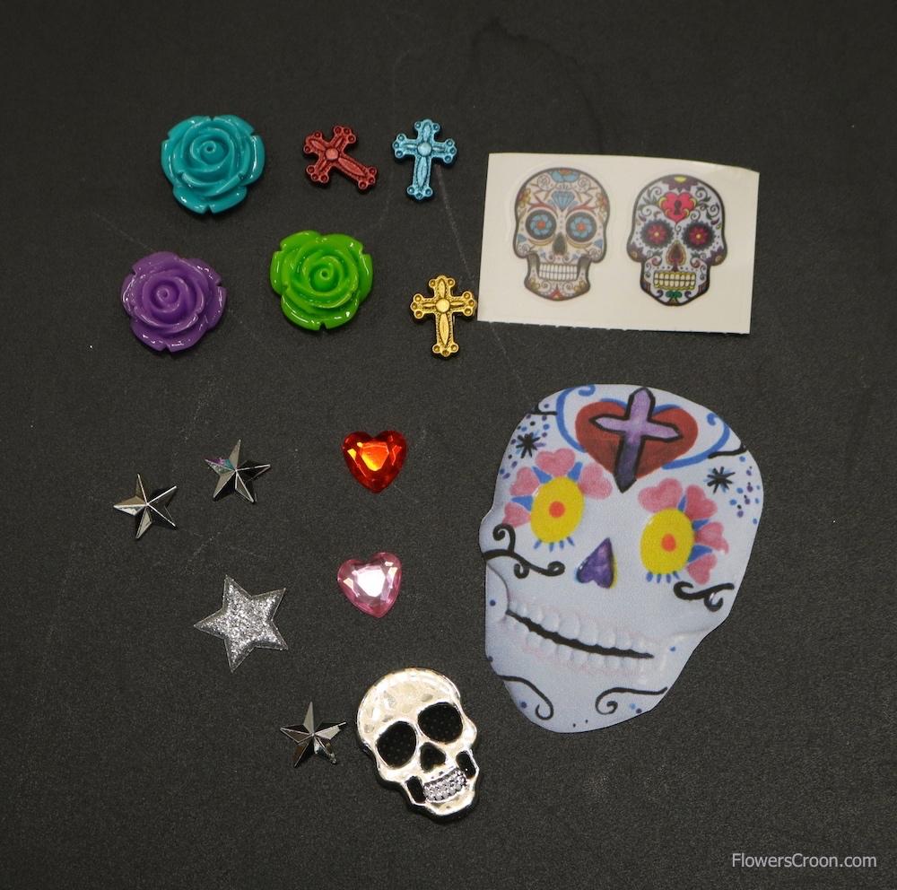 Stickers, beads, homemade art