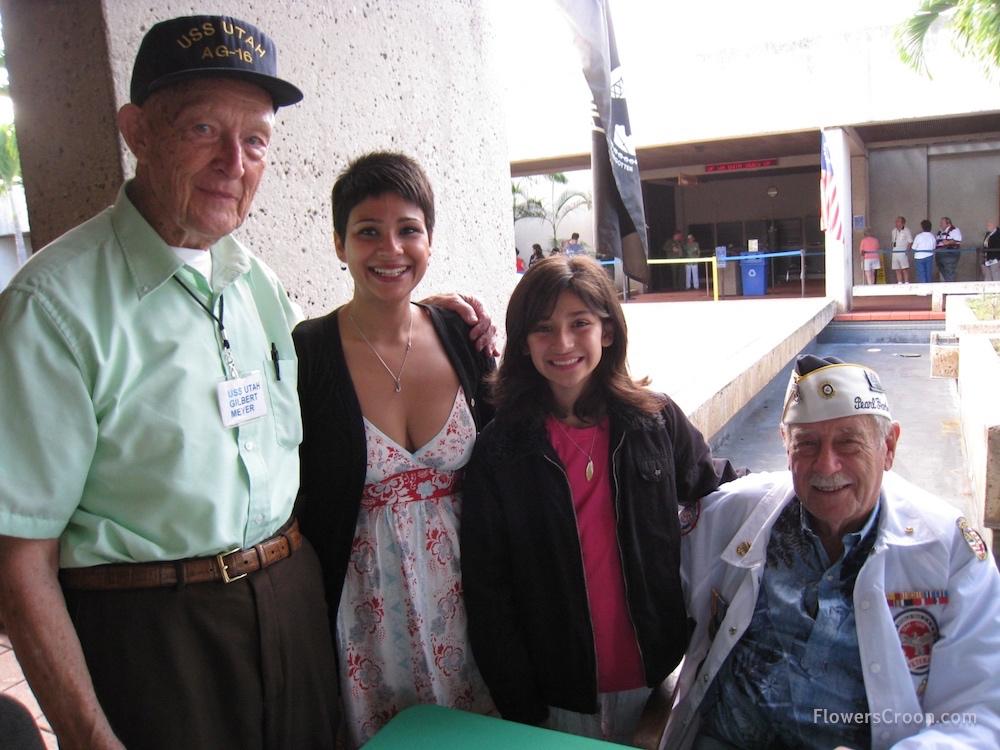 Pearl Harbor survivors Gilbert Meyer and Delton E. Walling