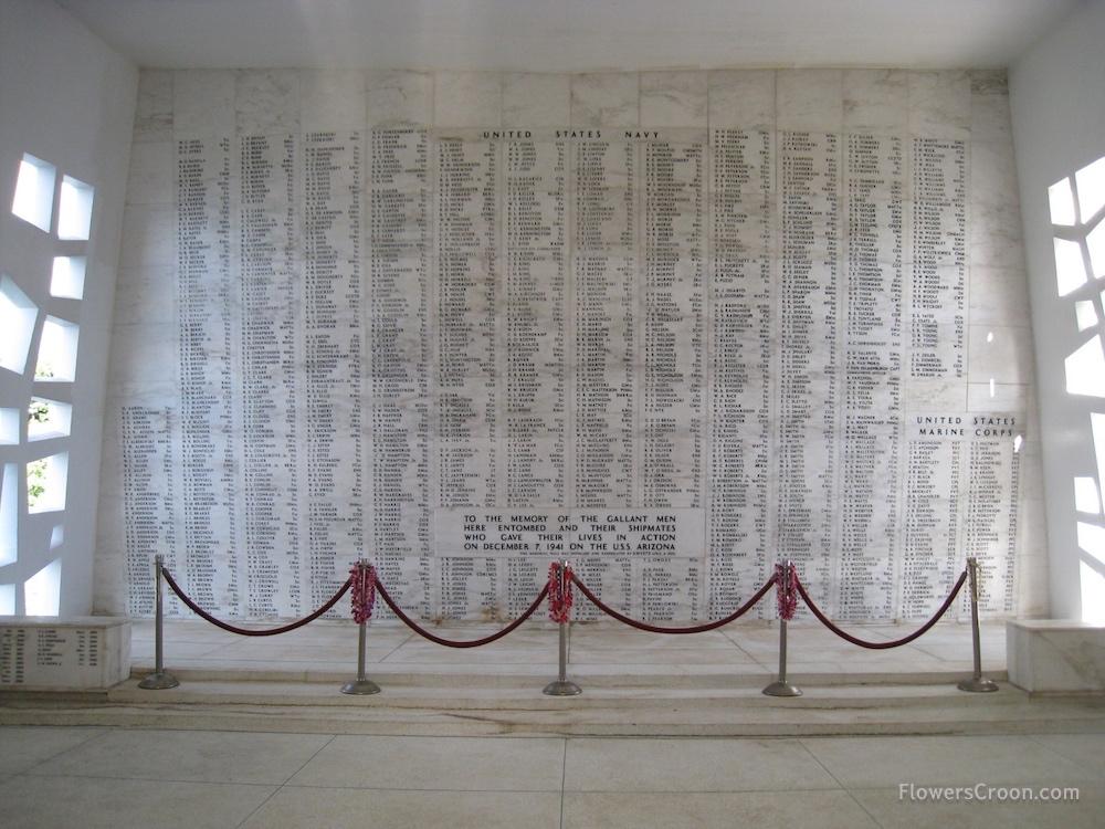 USS Arizona Memorial Wall of Names