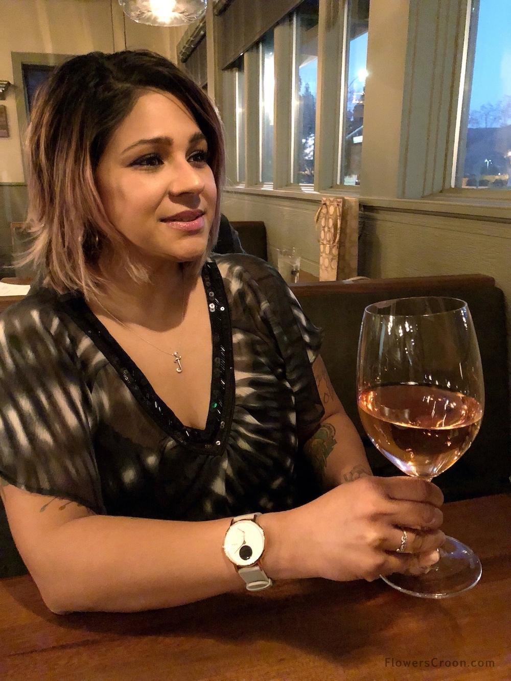 Valentine's Day dinner in my pretty rose gold Nokia Steel HR activity tracker